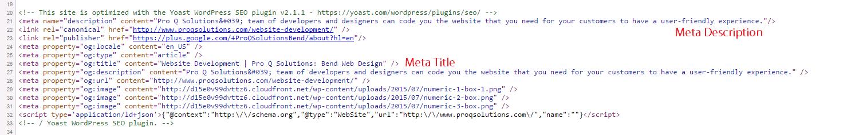 Meta Data Screenshot