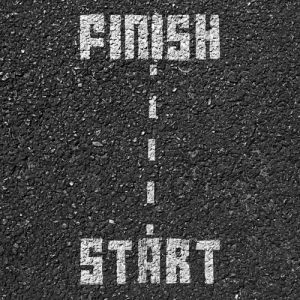 Starting line and finish line